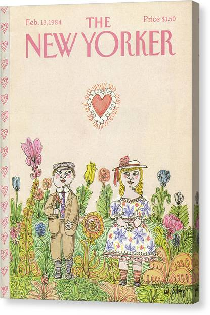 New Yorker February 13th, 1984 Canvas Print