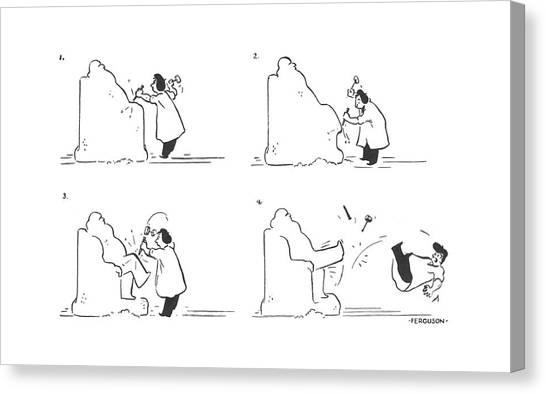 Sculptors Canvas Print - New Yorker February 14th, 1942 by Alan Ferguson