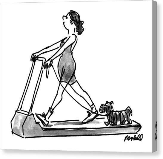 Jogging Canvas Print - New Yorker February 14th, 1994 by Frank Modell