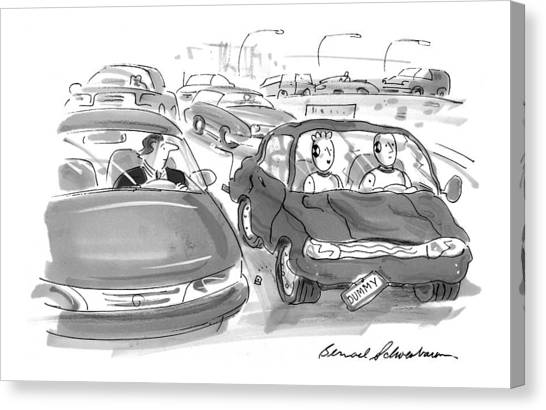 Dummies Canvas Print - New Yorker February 15th, 1999 by Bernard Schoenbaum