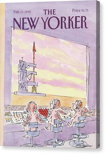 Cupid Canvas Print - New Yorker February 17th, 1992 by James Stevenson
