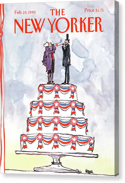 New Yorker February 19th, 1990 Canvas Print