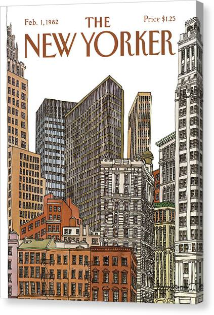 New Yorker February 1st, 1982 Canvas Print