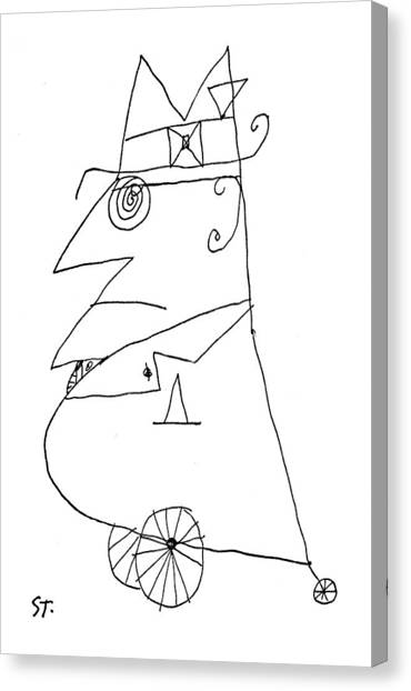 Merging Canvas Print - New Yorker February 20th, 1960 by Saul Steinberg