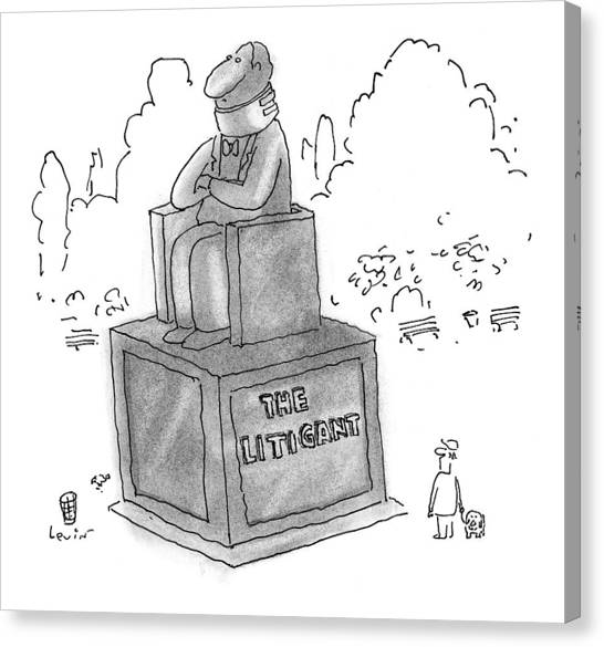 Braces Canvas Print - New Yorker February 2nd, 1998 by Arnie Levin