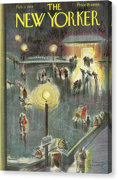 New Yorker February 3rd, 1934 Canvas Print by E. Simms Campbell