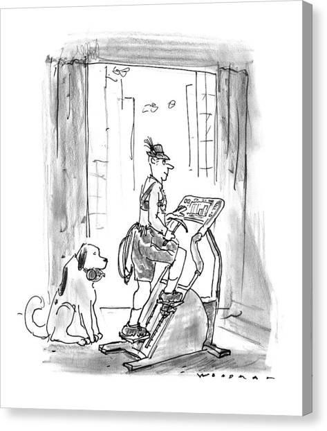 Rope Canvas Print - New Yorker February 9th, 1998 by Bill Woodman