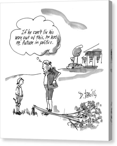 Cartoonist Canvas Print - New Yorker February 9th, 1998 by Donald Reilly