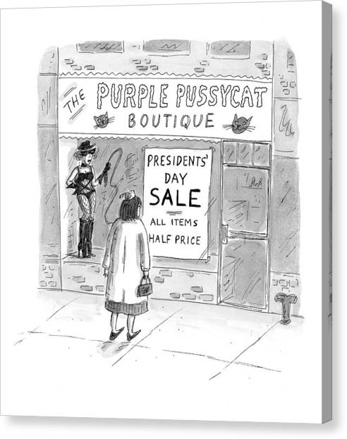 Bill Clinton Canvas Print - New Yorker February 9th, 1998 by Roz Chast