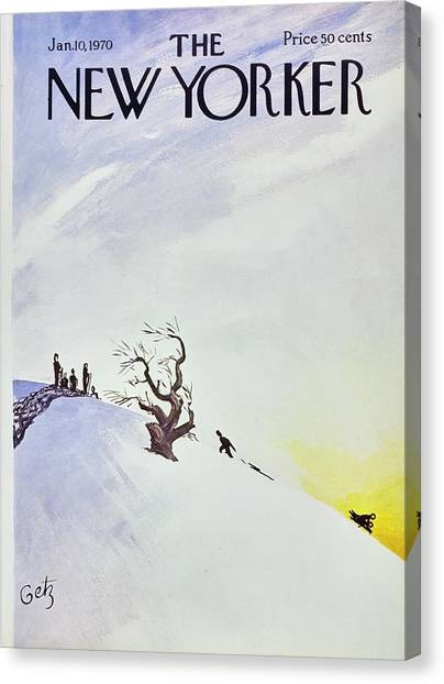 New Yorker January 10th 1970 Canvas Print by Arthur Getz