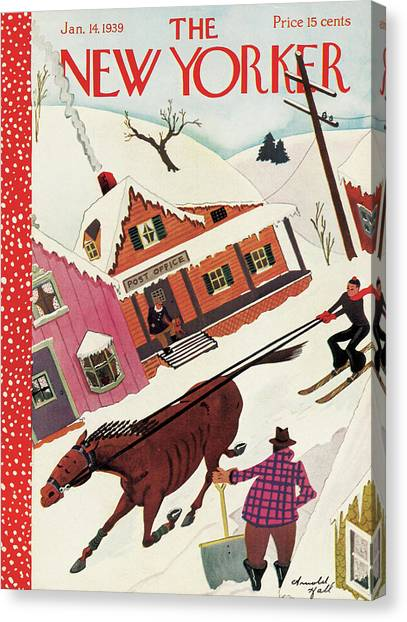 New Yorker January 14th, 1939 Canvas Print by Arnold Hall