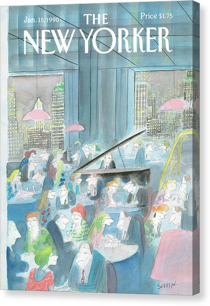 New Yorker January 15th, 1990 Canvas Print