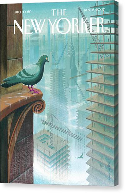 New Yorker January 15th, 2007 Canvas Print by Eric Drooker