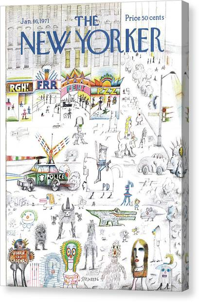 New Yorker January 16th, 1971 Canvas Print