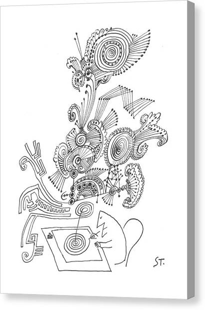 Designing Canvas Print - New Yorker January 26th, 1963 by Saul Steinberg