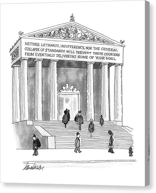New Yorker January 26th, 1976 Canvas Print
