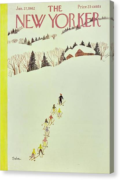 New Yorker January 27th 1962 Canvas Print