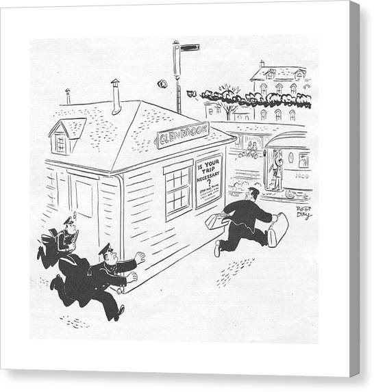 New Yorker January 29th, 1944 Canvas Print by Robert J. Day