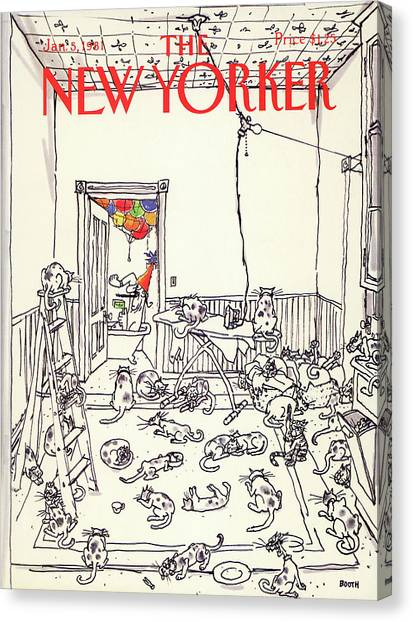 New Yorker January 5th, 1981 Canvas Print