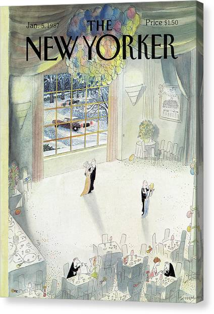 New Yorker January 5th, 1987 Canvas Print