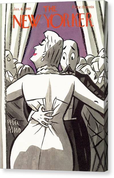 New Yorker January 6th, 1940 Canvas Print