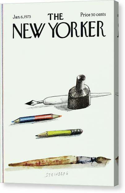 New Yorker January 6th, 1975 Canvas Print