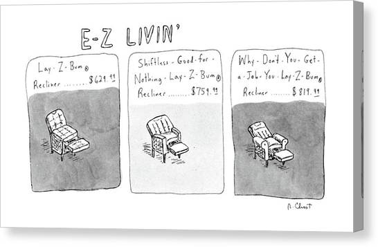 E.t Canvas Print - New Yorker January 6th, 1986 by Roz Chast