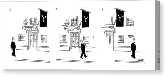 Ivy League Canvas Print - New Yorker July 10th, 1954 by Mischa Richter
