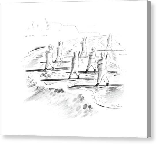 Surfboard Canvas Print - New Yorker July 12th, 1941 by Garrett Price