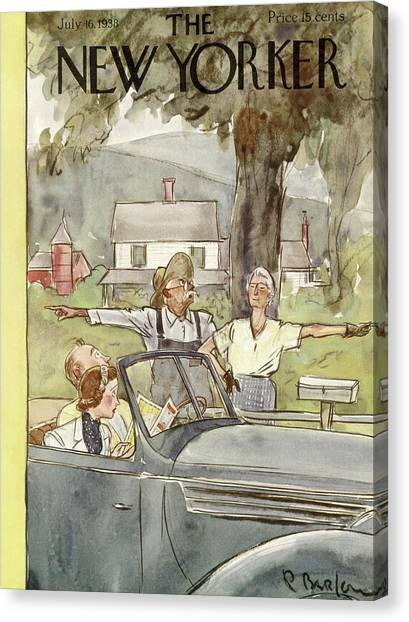 Citizen Canvas Print - New Yorker July 16th, 1938 by Perry Barlow