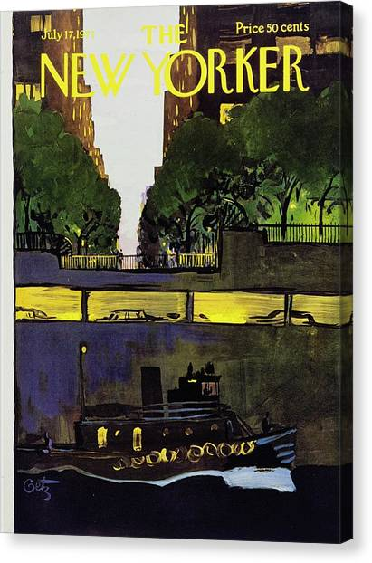 New Yorker July 17th 1971 Canvas Print by Arthur Getz