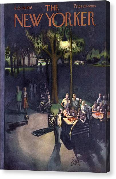 New Yorker July 18th, 1953 Canvas Print