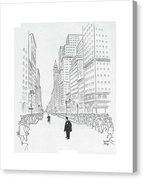 Bicycle Canvas Print - New Yorker July 25th, 1942 by Robert J. Day