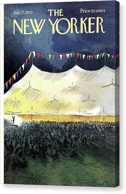 New Yorker July 25th, 1970 Canvas Print