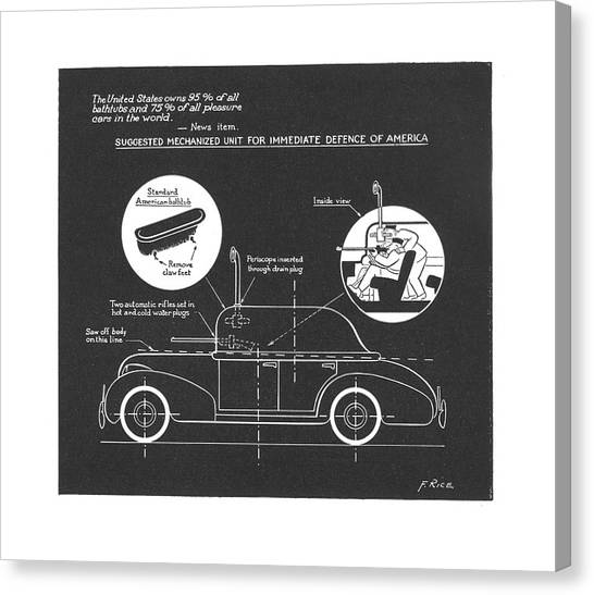 Car blueprint canvas prints page 4 of 25 pixels car blueprint canvas print new yorker july 27th 1940 by alain malvernweather Gallery