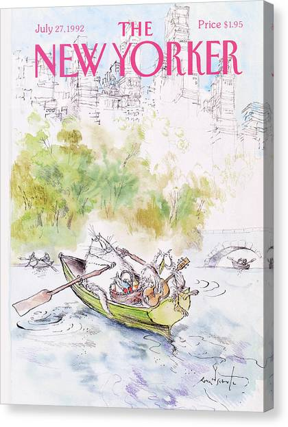 Banjos Canvas Print - New Yorker July 27th, 1992 by Ronald Searle