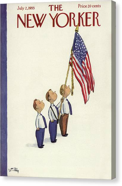 New Yorker July 2nd, 1955 Canvas Print