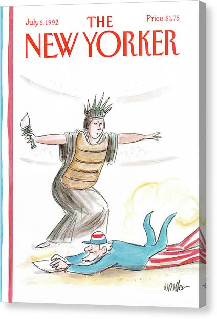 New Yorker July 6th, 1992 Canvas Print