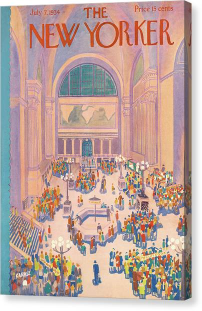 New Yorker July 7th, 1934 Canvas Print