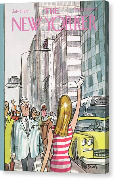 New Yorker July 8th, 1972 Canvas Print