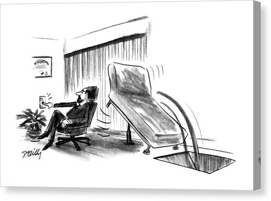 Psychology Canvas Print - New Yorker June 10th, 1991 by Donald Reilly