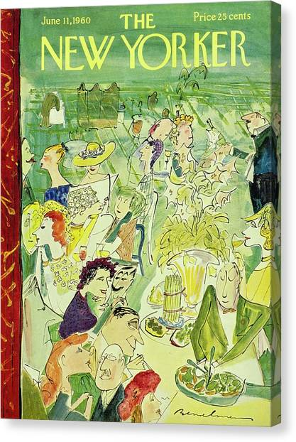 New Yorker June 11th 1960 Canvas Print by Ludwig Bemelmans