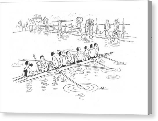 Pontoon Canvas Print - New Yorker June 13th, 1942 by  Alain