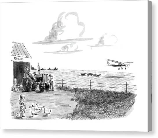 Cessnas Canvas Print - New Yorker June 15th, 1987 by Warren Miller