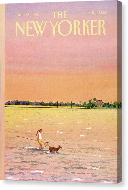 Susan Canvas Print - New Yorker June 16th, 1986 by Susan Davis