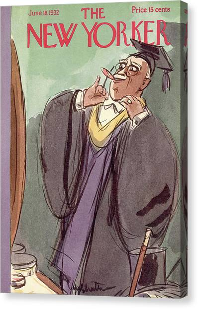 Professors Canvas Print - New Yorker June 18th, 1932 by William Galbraith Crawford