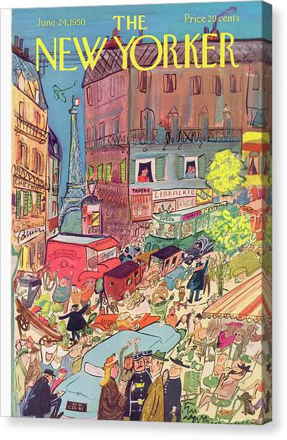 New Yorker June 24th, 1950 Canvas Print