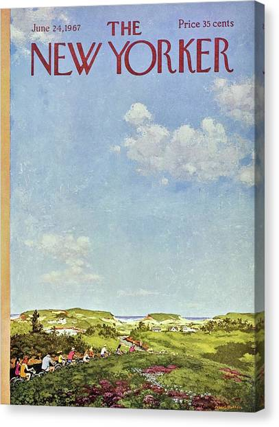 New Yorker June 24th 1967 Canvas Print by Albert Hubbell