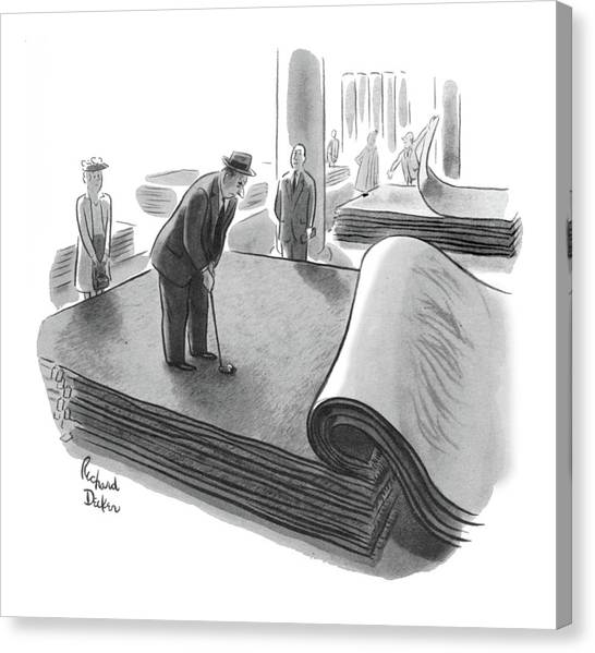New Yorker June 25th, 1955 Canvas Print