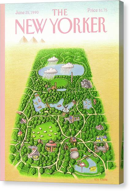 New Yorker June 25th, 1990 Canvas Print